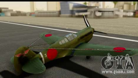 P-40E Kittyhawk IJAAF for GTA San Andreas inner view