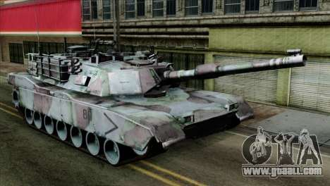 M1A2 Abrams Woodland Blue Camo for GTA San Andreas