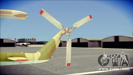 Mi-8 Hip for GTA San Andreas back left view