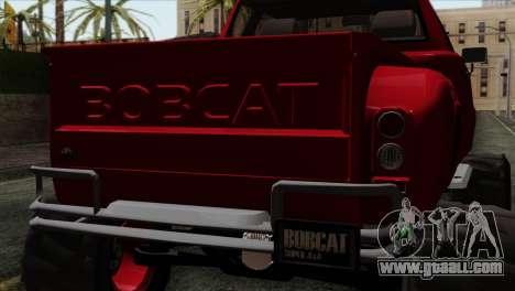 Bobcat Fx4 for GTA San Andreas back view