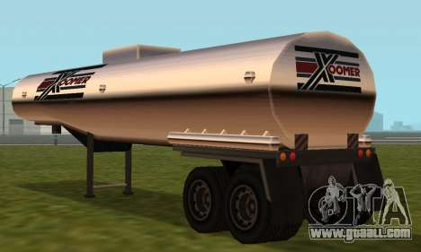 PS2 Petrol Trailer for GTA San Andreas right view