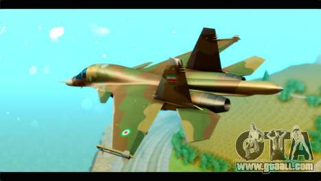 Sukhoi SU-34 IRIAF for GTA San Andreas left view