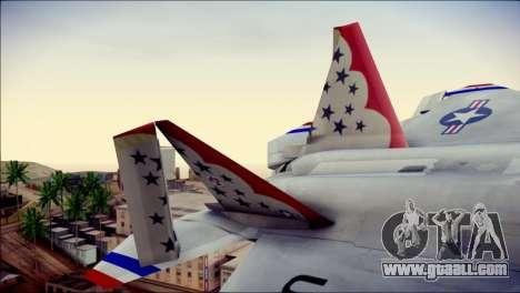 F-22 Raptor Thunderbirds for GTA San Andreas back left view