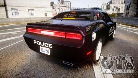 Dodge Challenger SRT8 Police [ELS] for GTA 4 back left view