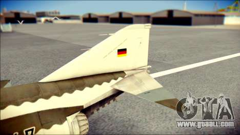 McDonnell Douglas F-4F Luftwaffe for GTA San Andreas back left view