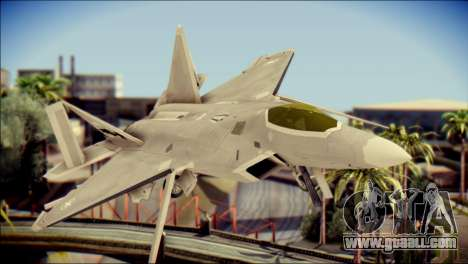 F-22 Gryphus, Falco and Antares for GTA San Andreas back view
