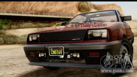 GTA 5 Dinka Blista Compact for GTA San Andreas back left view