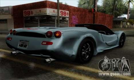 Mitsuoka Orochi Nude Top Roadster for GTA San Andreas left view