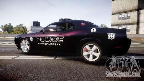 Dodge Challenger SRT8 Police [ELS] for GTA 4 left view