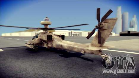 AH64 Apache MOHW for GTA San Andreas left view