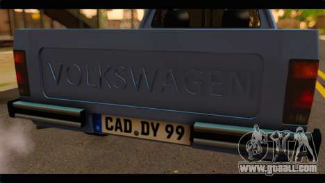 Volkswagen Caddy Mk1 Stock for GTA San Andreas back view