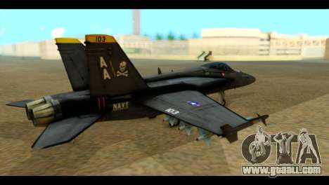 FA-18 Jolly Roger Black for GTA San Andreas left view