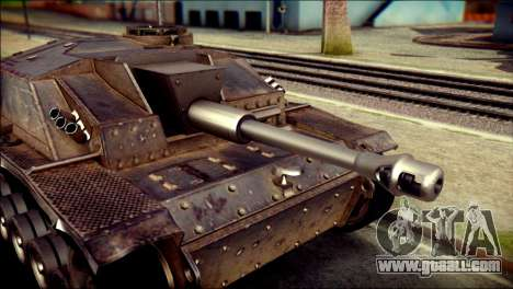 StuG III Ausf. G for GTA San Andreas back left view