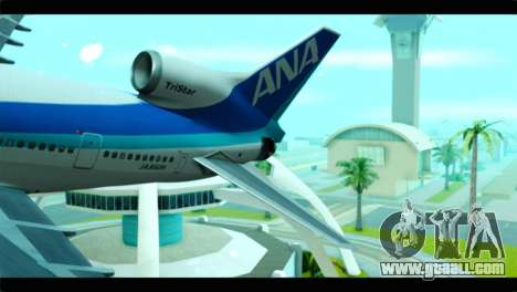 Lookheed L-1011 ANA for GTA San Andreas back left view