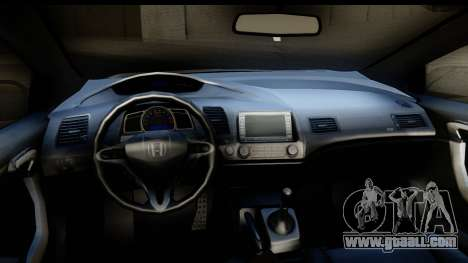 Honda Civic SI Juiced Tuned Shinon Itasha for GTA San Andreas inner view