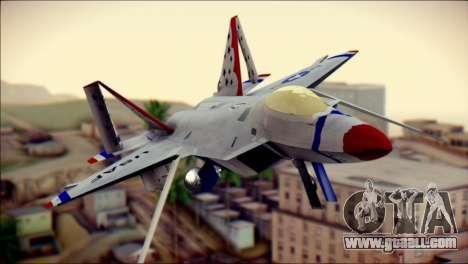F-22 Raptor Thunderbirds for GTA San Andreas back view