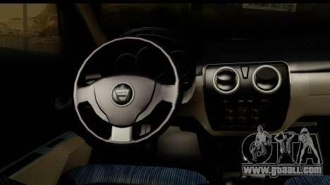 Dacia Lodgy 2014 for GTA San Andreas inner view