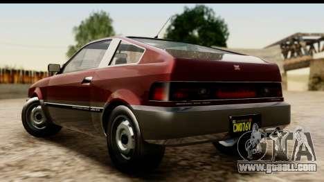 GTA 5 Dinka Blista Compact for GTA San Andreas left view