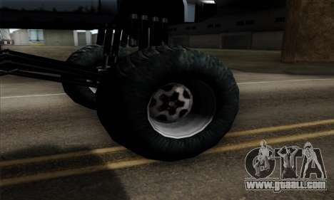 Monster Bobcat for GTA San Andreas back left view
