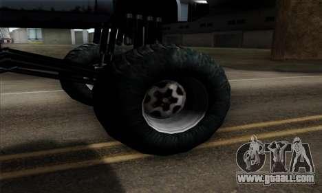 Monster Bobcat for GTA San Andreas back left view