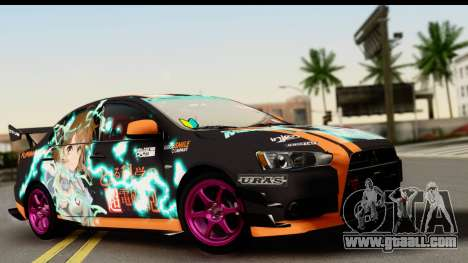 Mitsubishi Lancer Evolution X 2014 Itasha for GTA San Andreas
