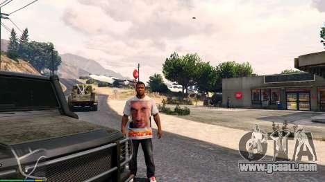 GTA 5 T-shirt for Franklin. - Fizruk sixth screenshot