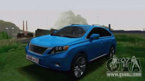 Lexus RX450h v3 for GTA San Andreas