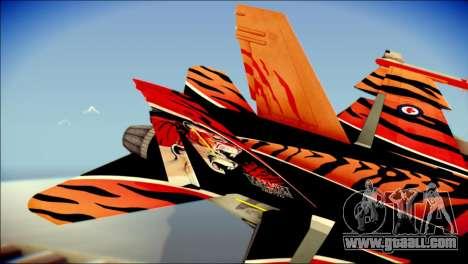 FA-18D Hornet RCAF Tigermeet for GTA San Andreas back left view
