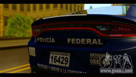 Dodge Charger 2015 Mexican Police for GTA San Andreas back view