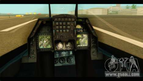 Lockheed Martin F-16C Fighting Falcon Warwolf for GTA San Andreas back view