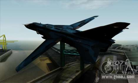 SU-24MP Fencer Blue Sea Camo for GTA San Andreas left view