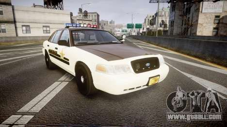 Ford Crown Victoria Liberty Sheriff [ELS] for GTA 4