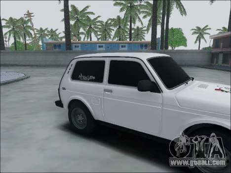 Lada Niva for GTA San Andreas back left view