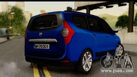 Dacia Lodgy 2014 for GTA San Andreas left view