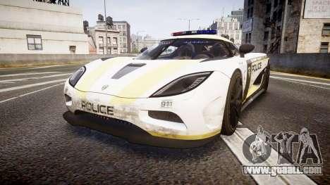 Koenigsegg Agera 2013 Police [EPM] v1.1 PJ2 for GTA 4