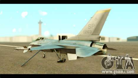 Lockheed Martin F-16C Fighting Falcon Warwolf for GTA San Andreas left view