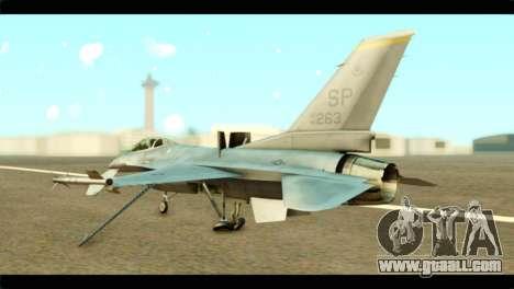 Lockheed Martin F-16C Fighting Falcon Warwolf for GTA San Andreas left view