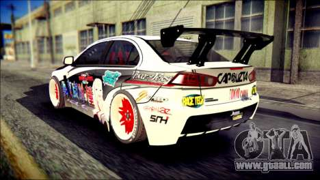 Mitsubishi Lancer Evolution X Juuzo Itasha for GTA San Andreas left view
