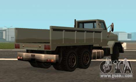 Flatbed Fixed for GTA San Andreas back left view