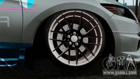 Honda CRZ Mugen Stance Miku Itasha for GTA San Andreas back left view