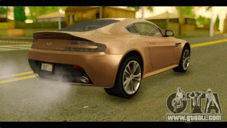 Aston Martin V12 Vantage for GTA San Andreas left view