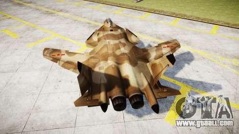 Su-47 Berkut desert for GTA 4 back left view