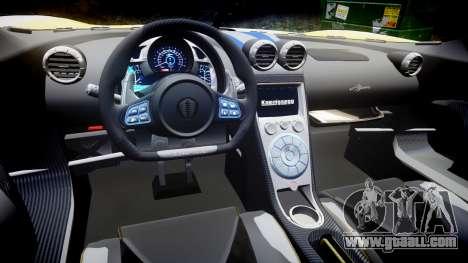 Koenigsegg Agera 2013 Police [EPM] v1.1 PJ2 for GTA 4 inner view