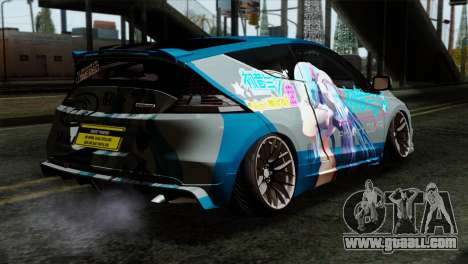 Honda CRZ Mugen Stance Miku Itasha for GTA San Andreas left view