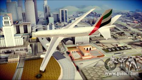 Airbus A340-300 Emirates for GTA San Andreas left view