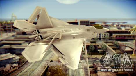 F-22 Gryphus, Falco and Antares for GTA San Andreas left view