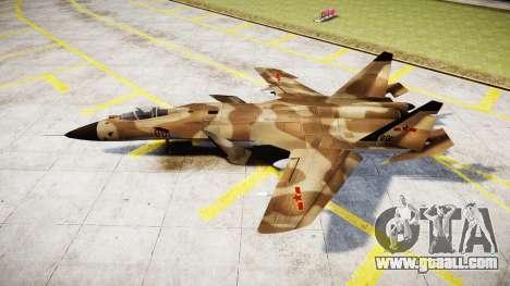 Su-47 Berkut desert for GTA 4 left view