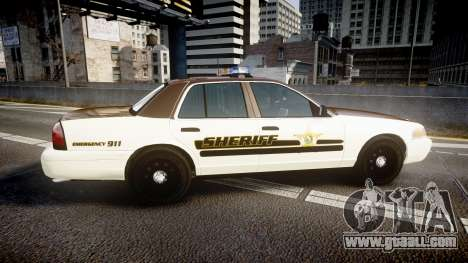 Ford Crown Victoria Liberty Sheriff [ELS] for GTA 4 left view