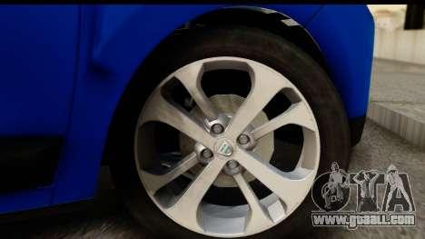 Dacia Lodgy 2014 for GTA San Andreas back view