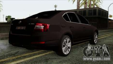 Skoda Octavia Police for GTA San Andreas left view
